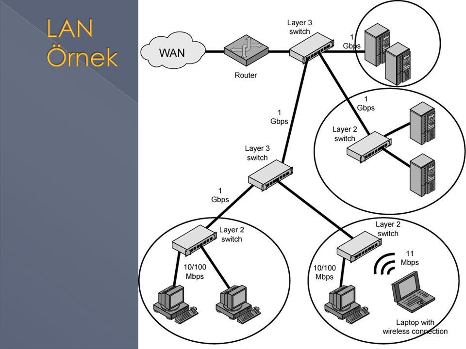  Aşağıdaki resimde görülen ağın › Mantıksal ve fiziksel topolojisi, kullanılan donanım elemanları nelerdir.