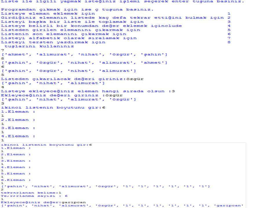 Sözlükler  Python programlama dilinde özellikle veritabanı uygulamalarında büyük kolaylıklar sağlamaktadırlar.