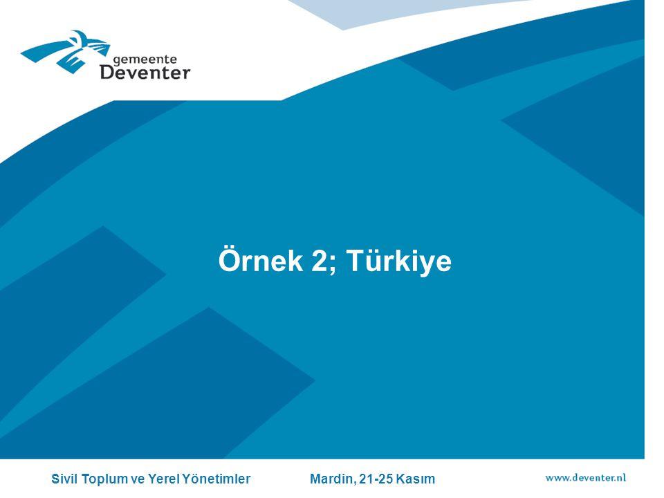 Örnek 2; Türkiye Sivil Toplum ve Yerel Yönetimler Mardin, 21-25 Kasım