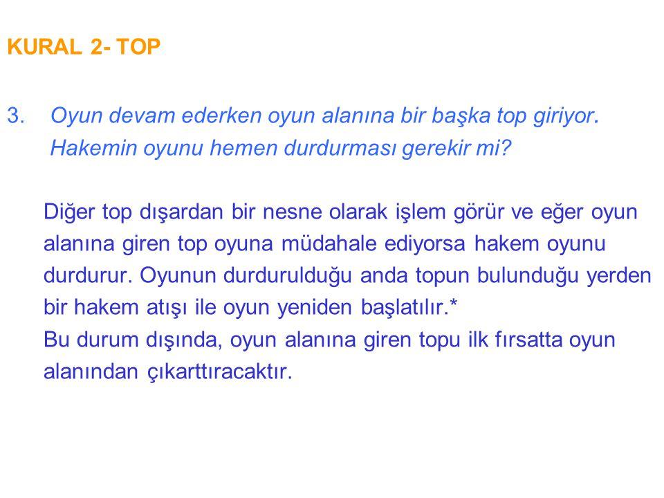 KURAL 15- TAÇ ATIŞI 3.