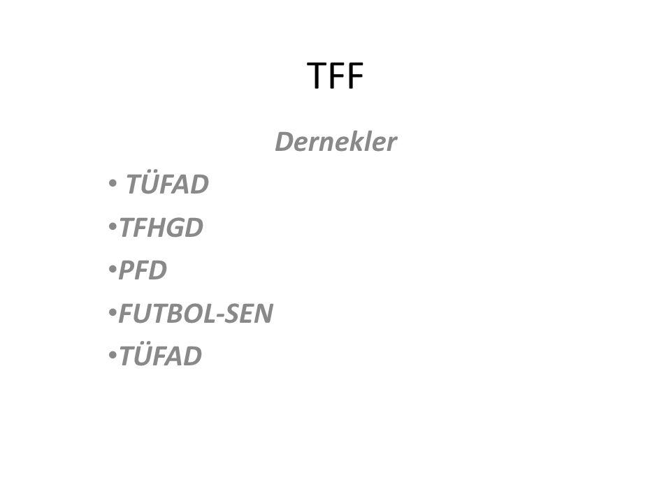 TFF Dernekler TÜFAD TFHGD PFD FUTBOL-SEN TÜFAD