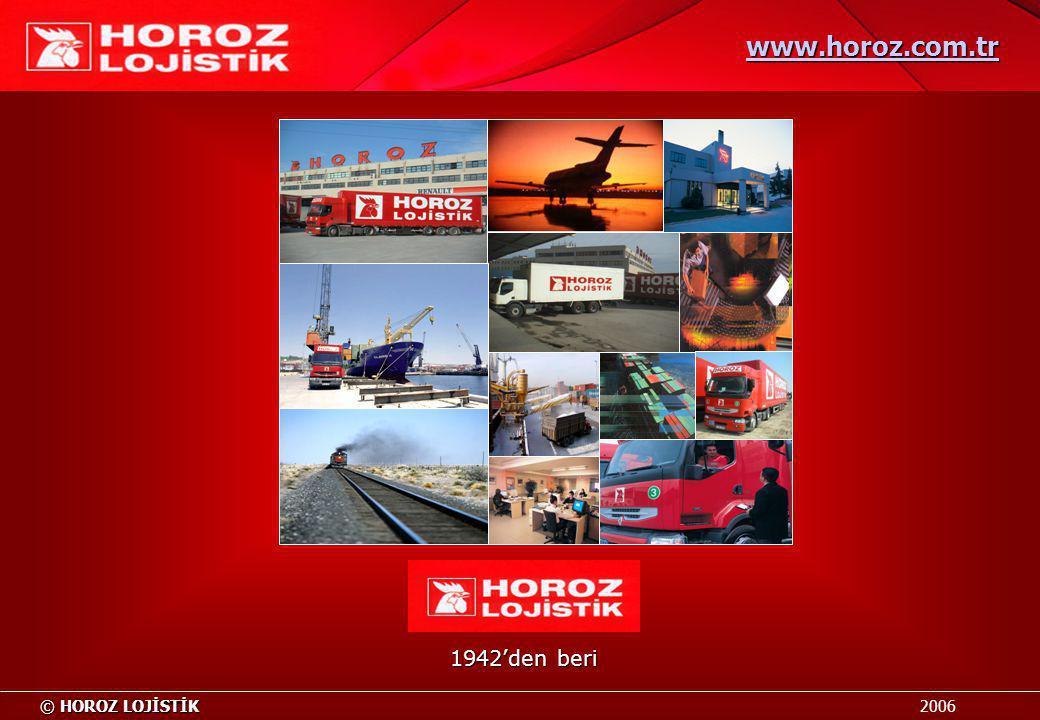 1942'den beri © HOROZ LOJİSTİK © HOROZ LOJİSTİK 2006 www.horoz.com.tr