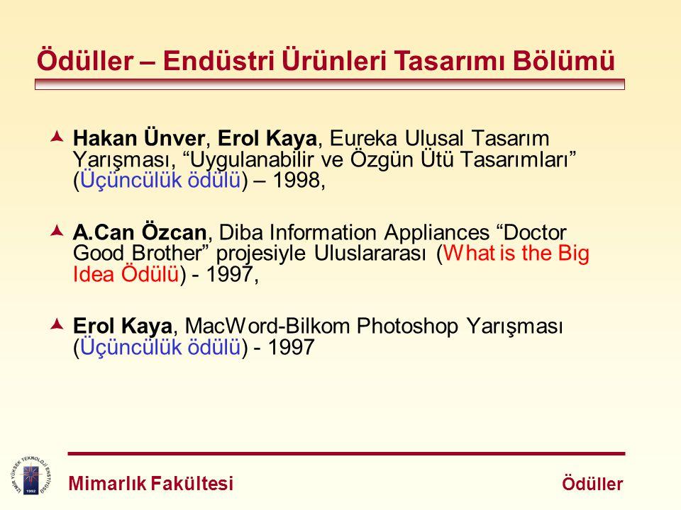 """ Hakan Ünver, Erol Kaya, Eureka Ulusal Tasarım Yarışması, """"Uygulanabilir ve Özgün Ütü Tasarımları"""" (Üçüncülük ödülü) – 1998,  A.Can Özcan, Diba Info"""