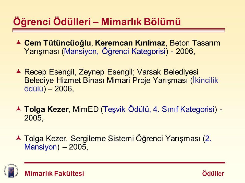  Cem Tütüncüoğlu, Keremcan Kırılmaz, Beton Tasarım Yarışması (Mansiyon, Öğrenci Kategorisi) - 2006,  Recep Esengil, Zeynep Esengil; Varsak Belediyes