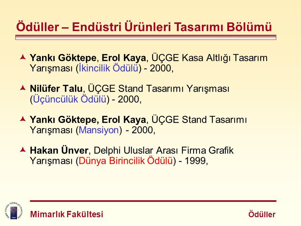  Erol Kaya, Vestel Altın Gönye Tasarım Yarışması, Televizyon Kumandası Projesi (Mansiyon) - 1999,  Yankı Göktepe, EPİD I.