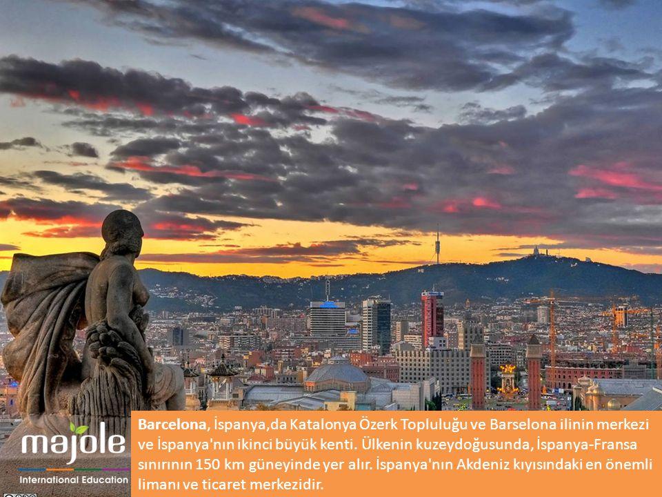 Barcelona, İspanya,da Katalonya Özerk Topluluğu ve Barselona ilinin merkezi ve İspanya'nın ikinci büyük kenti. Ülkenin kuzeydoğusunda, İspanya-Fransa