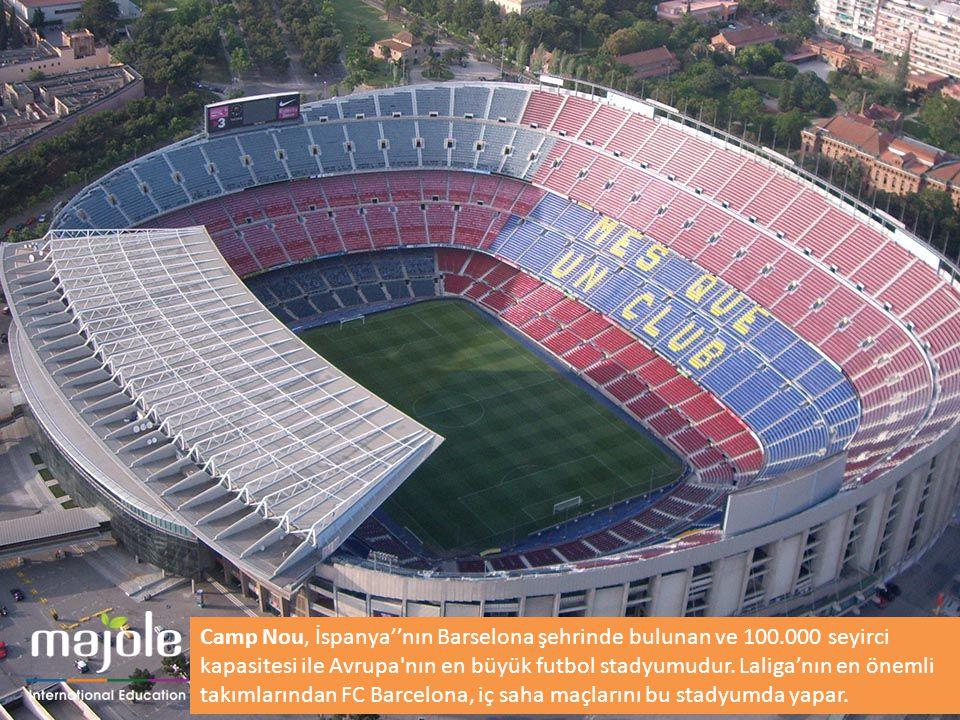 Camp Nou, İspanya''nın Barselona şehrinde bulunan ve 100.000 seyirci kapasitesi ile Avrupa'nın en büyük futbol stadyumudur. Laliga'nın en önemli takım