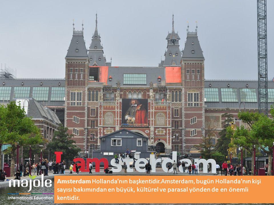 Amsterdam Hollanda'nın başkentidir.Amsterdam, bugün Hollanda'nın kişi sayısı bakımından en büyük, kültürel ve parasal yönden de en önemli kentidir.