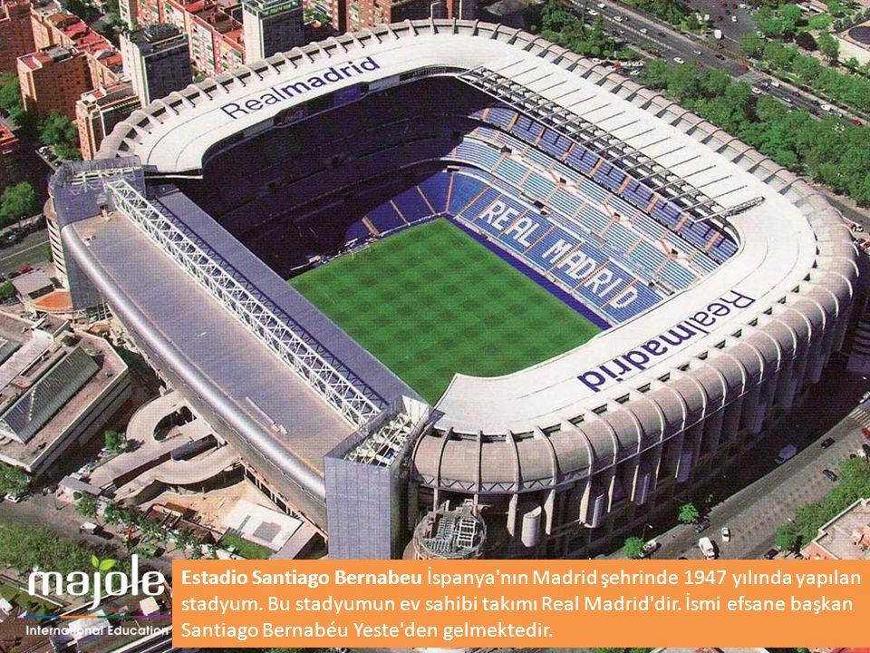 Estadio Santiago Bernabeu İspanya'nın Madrid şehrinde 1947 yılında yapılan stadyum. Bu stadyumun ev sahibi takımı Real Madrid'dir. İsmi efsane başkan