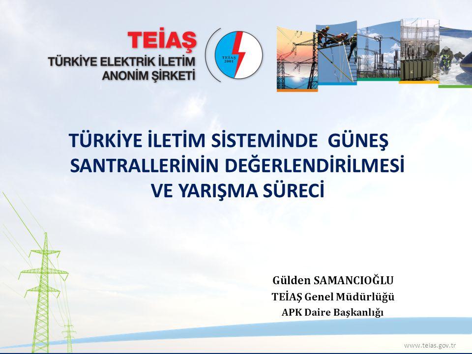 12 TEİAŞ TÜRKİYE ELEKTRİK İLETİM ANONİM ŞİRKETİ 1 KASIM 2007 BAŞVURULARI Yenilenebilir Enerji Kaynaklarının Elektrik Enerjisi Üretimi Amaçlı Kullanımına İlişkin 2005 yılında çıkarılan Kanun sonrasında EPDK tarafından 1 Kasım 2007 tarihinde toplam 78.000 MW kurulu gücünde 751 adet rüzgar enerjisi santrali (RES) için başvuru alınmış ve Teşekkülümüzden bağlantı görüşleri istenilmiştir.