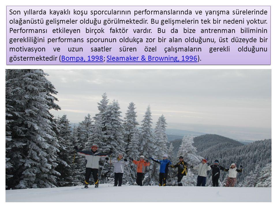 Son yıllarda kayaklı koşu sporcularının performanslarında ve yarışma sürelerinde olağanüstü gelişmeler olduğu görülmektedir. Bu gelişmelerin tek bir n