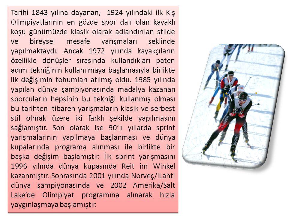 Son yıllarda kayaklı koşu yarışmalarının sprint ve mesafe olarak farklılaşmasından dolayı, kayaklı koşucularda da bir özelleşme yaşanmaktadır.