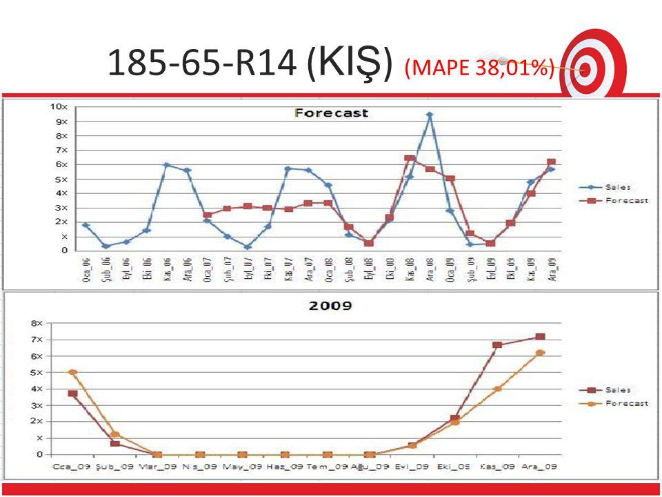 1 Reference ? 22 185-65-R14 ( KIŞ ) (MAPE 38,01%)