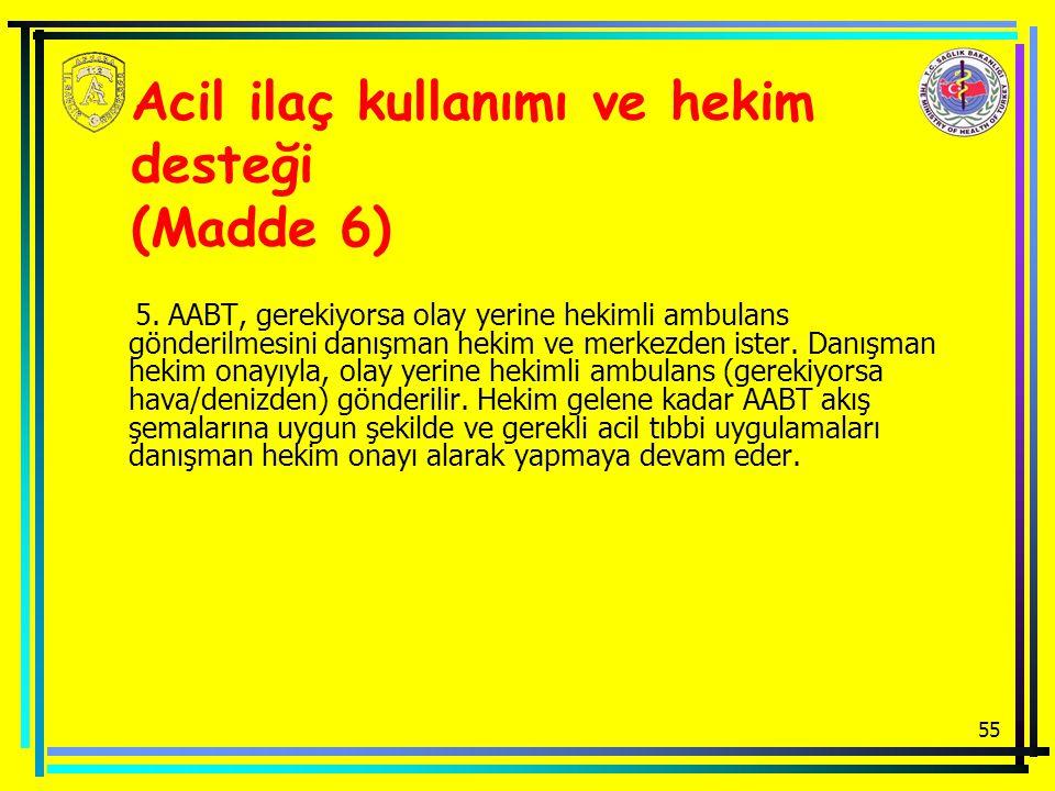 55 Acil ilaç kullanımı ve hekim desteği (Madde 6) 5.