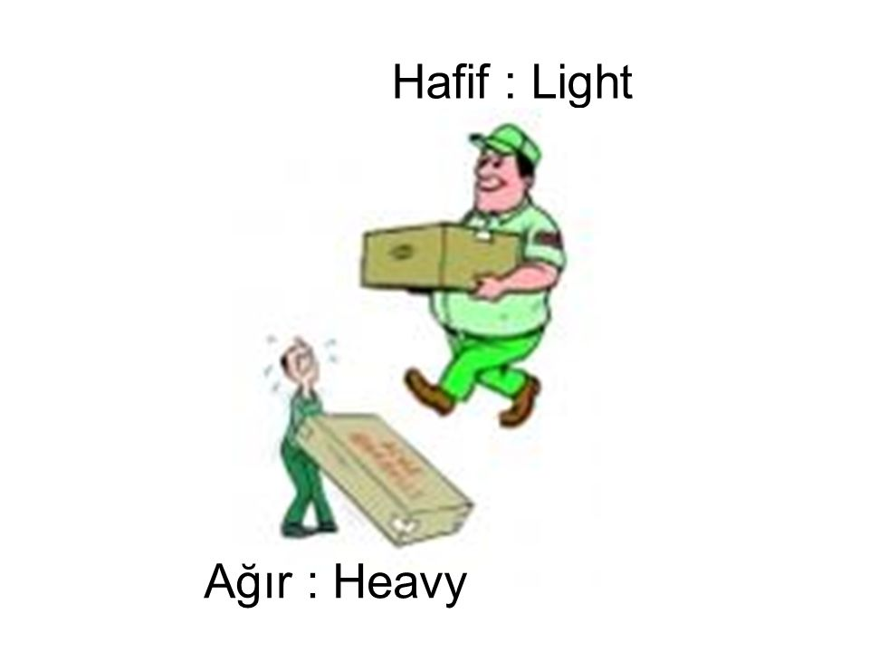 Hafif : Light Ağır : Heavy
