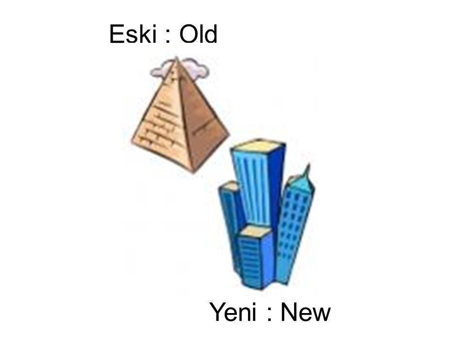 Eski : Old Yeni : New
