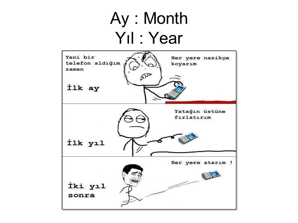 Ay : Month Yıl : Year