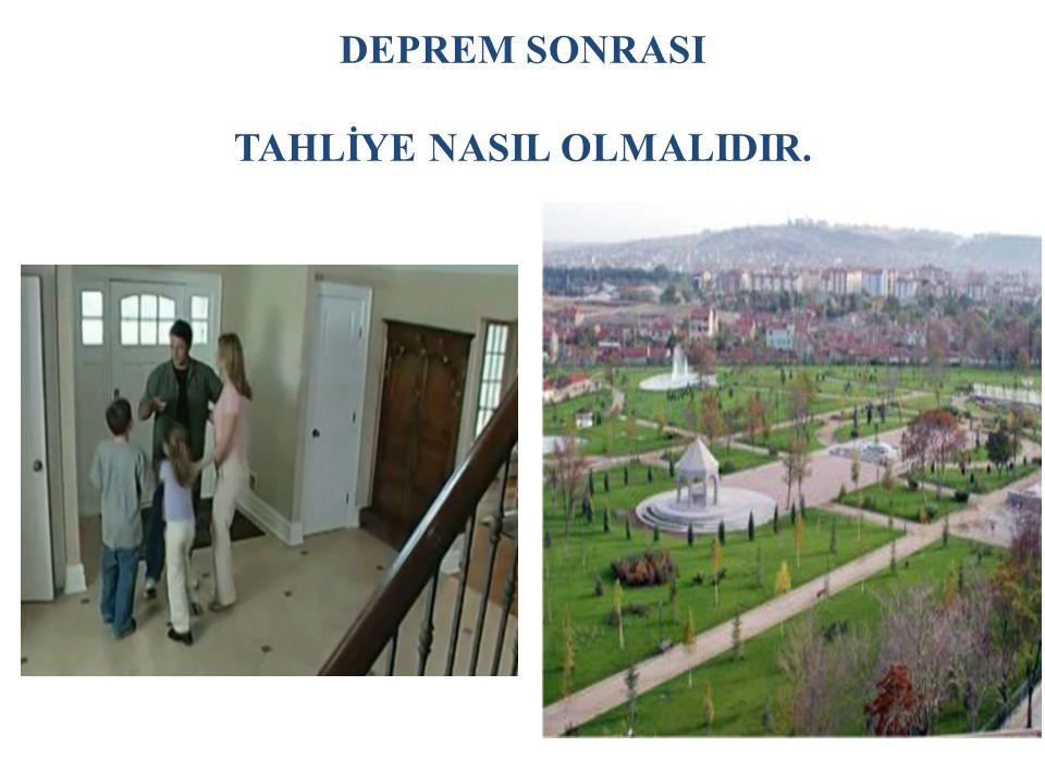 DEPREM SONRASI TAHLİYE NASIL OLMALIDIR.