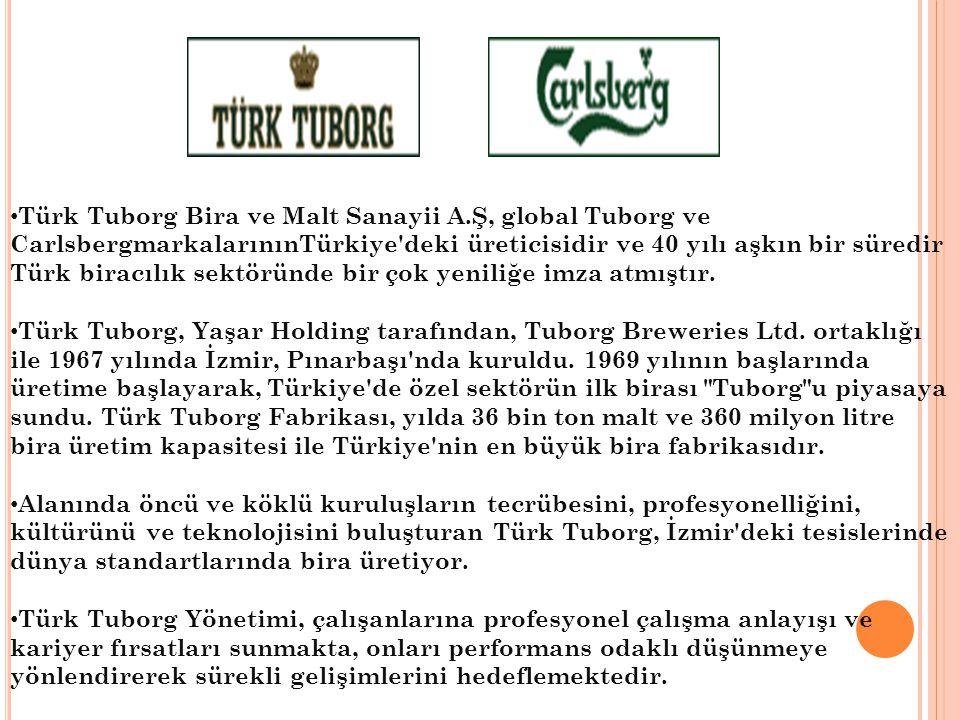 Türk Tuborg Bira ve Malt Sanayii A.Ş, global Tuborg ve CarlsbergmarkalarınınTürkiye'deki üreticisidir ve 40 yılı aşkın bir süredir Türk biracılık sekt