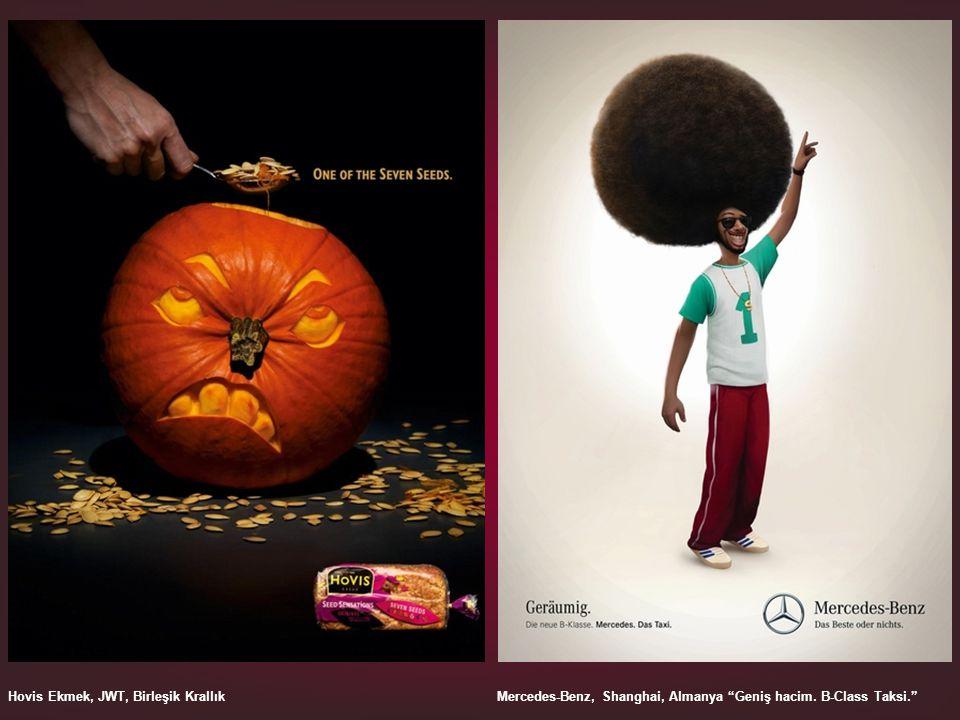 Hovis Ekmek, JWT, Birleşik Krallık Mercedes-Benz, Shanghai, Almanya Geniş hacim. B-Class Taksi.