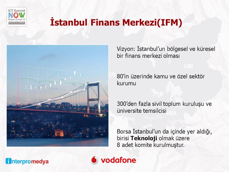 Vizyon: İstanbul'un bölgesel ve küresel bir finans merkezi olması 80'in üzerinde kamu ve özel sektör kurumu 300'den fazla sivil toplum kuruluşu ve üniversite temsilcisi Borsa İstanbul'un da içinde yer aldığı, birisi Teknoloji olmak üzere 8 adet komite kurulmuştur.