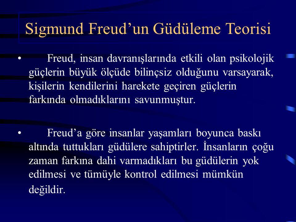 Freud, insan davranışlarında etkili olan psikolojik güçlerin büyük ölçüde bilinçsiz olduğunu varsayarak, kişilerin kendilerini harekete geçiren güçlerin farkında olmadıklarını savunmuştur.