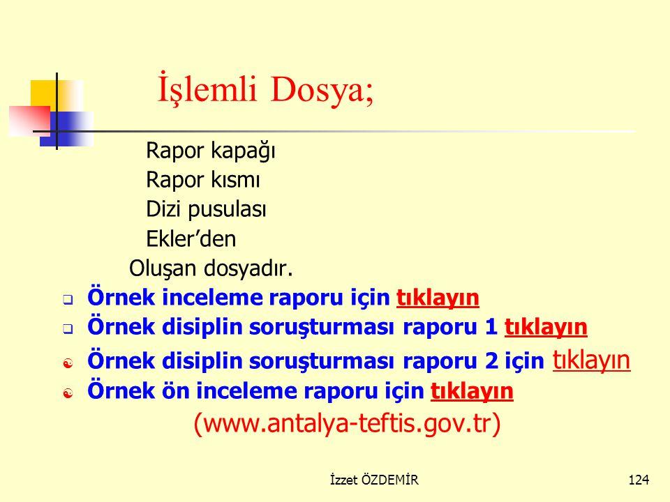123 3) Dizi Pusulası Dizi Pusulası Raporda yer alan ifade ve delillerle ilgili belgelere sıra numarası verilir. Ek numarası sayfanın sağ üst köşesine