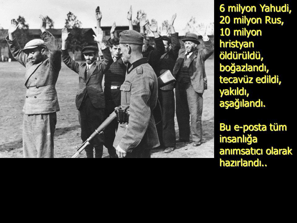 İRAN ve benzeri ülkeler HOLOCAUST'un bir yalan, bir efsane olduğunu BEYAN ediyor.