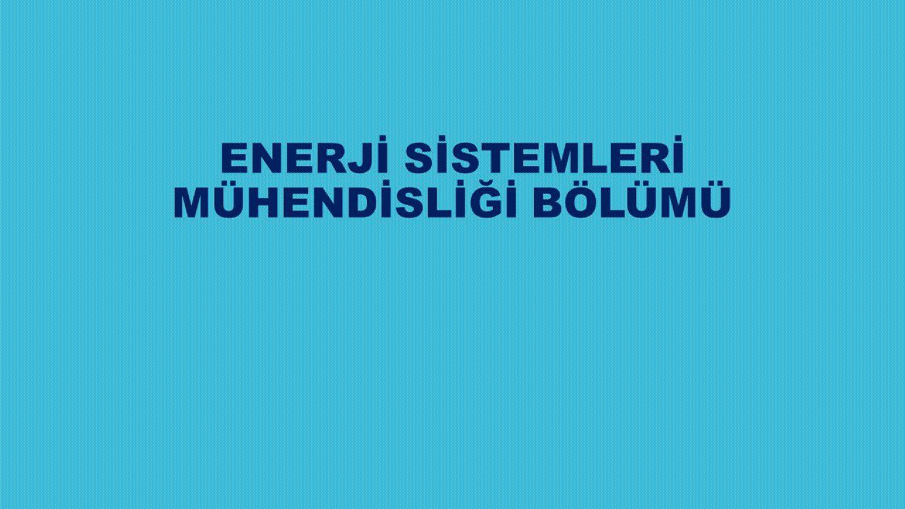 Programın Amacı: Her türlü enerjinin yeterli, kaliteli, sürekli, düşük maliyetli ve çevreyle uyumlu bir şekilde üretilmesi, tüketiciye sunulması ve ekonomik olarak kullanılması süreçlerini planlayan, projelendiren, uygulayan ve bu konuda strateji geliştiren kişileri yetiştirmektir.
