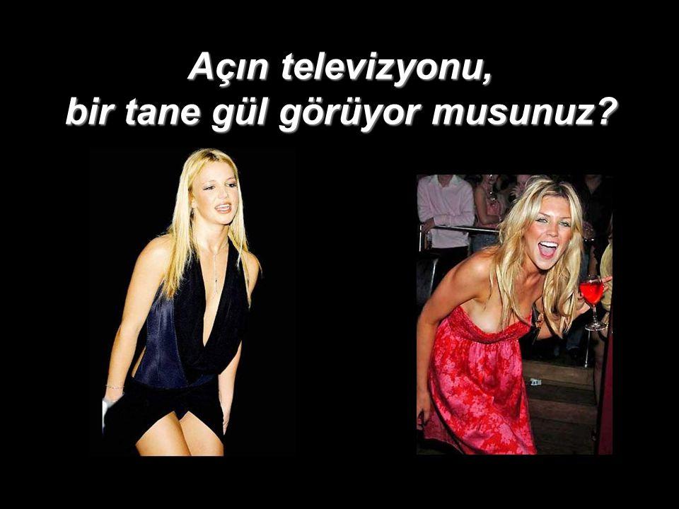 Açın televizyonu, bir tane gül görüyor musunuz?