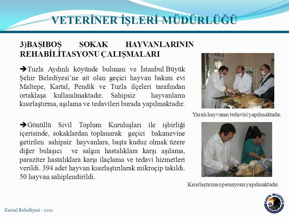 Kartal Belediyesi - 2010 4)EĞİTİM VE PROJE GELİŞTİRME ÇALIŞMALARI  Kasaplar için eğitim verildi.
