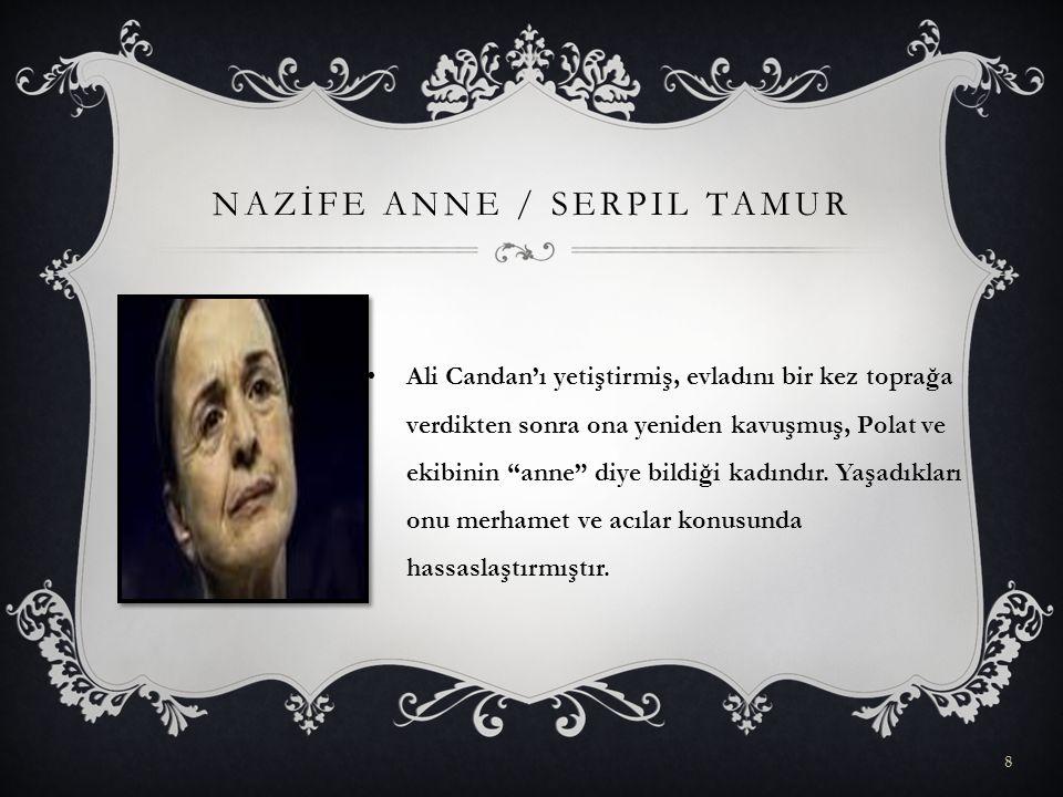 """NAZİFE ANNE / SERPIL TAMUR Ali Candan'ı yetiştirmiş, evladını bir kez toprağa verdikten sonra ona yeniden kavuşmuş, Polat ve ekibinin """"anne"""" diye bild"""