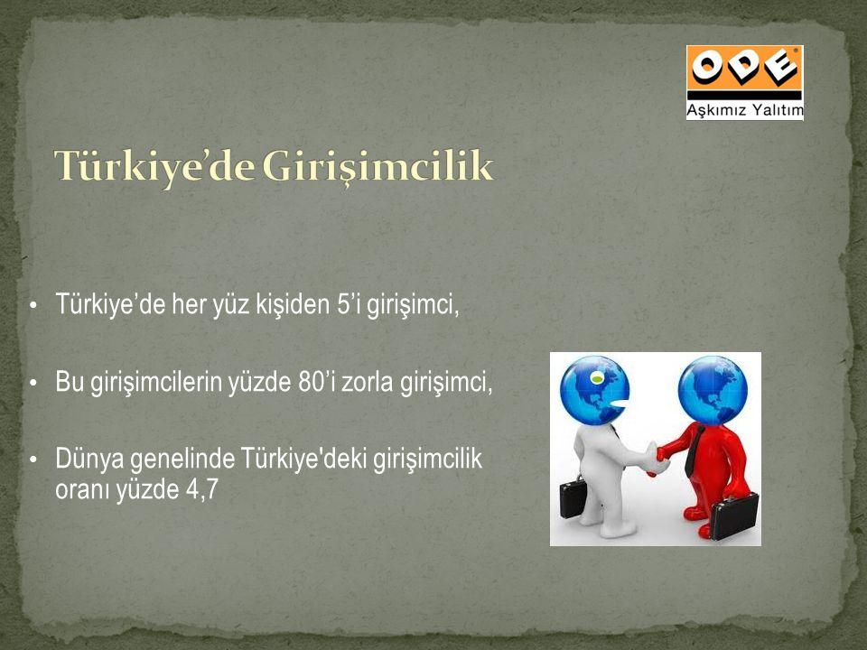 Türkiye'de her yüz kişiden 5'i girişimci, Bu girişimcilerin yüzde 80'i zorla girişimci, Dünya genelinde Türkiye'deki girişimcilik oranı yüzde 4,7
