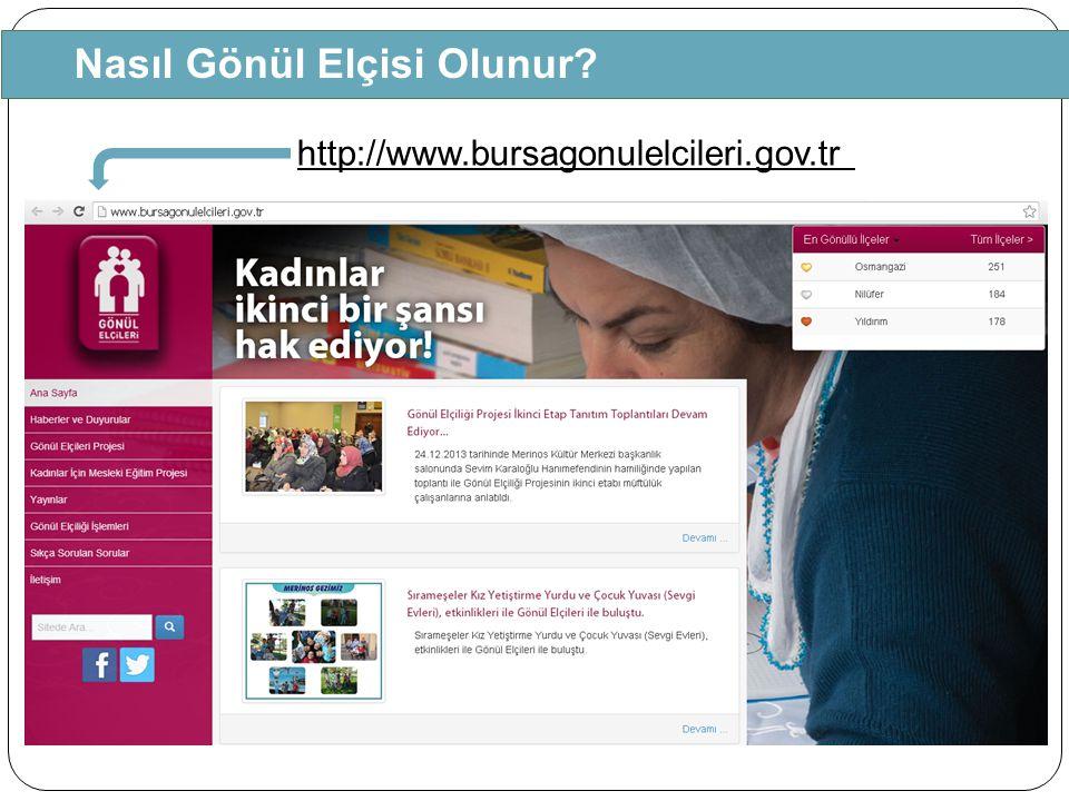 Nasıl Gönül Elçisi Olunur? http://www.bursagonulelcileri.gov.tr