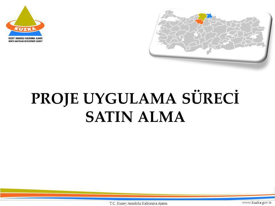 T.C. Kuzey Anadolu Kalkınma Ajansı www.kuzka.gov.tr PROJE UYGULAMA SÜRECİ SATIN ALMA