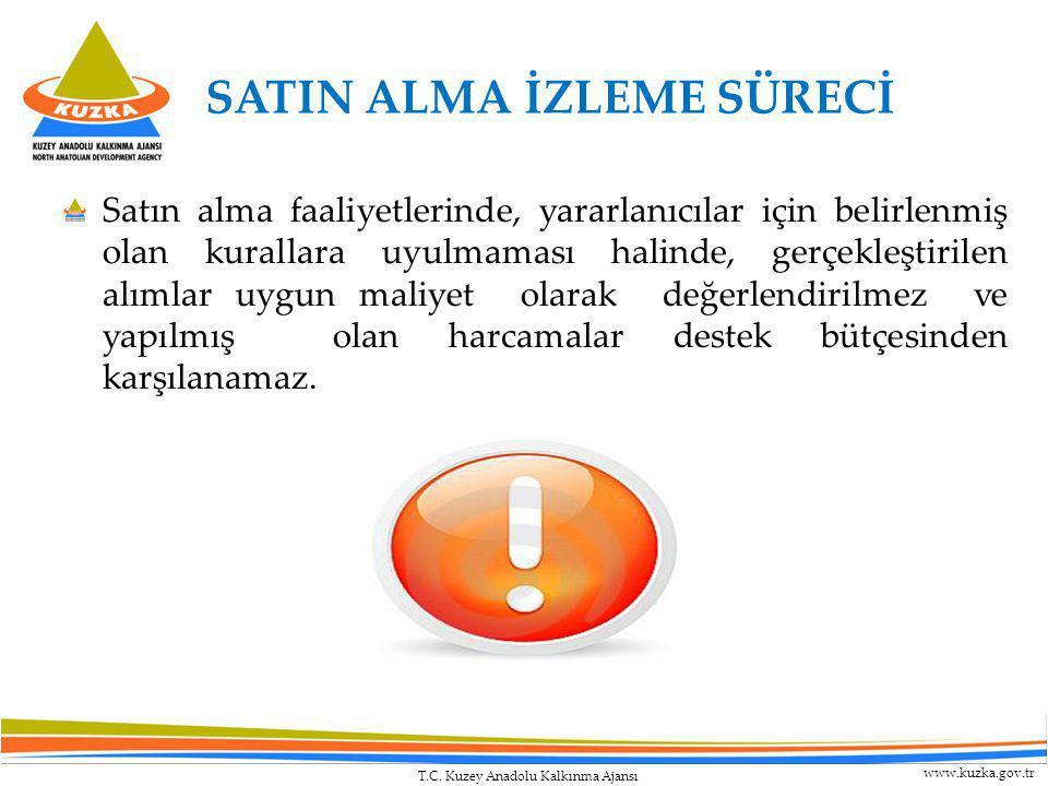 T.C. Kuzey Anadolu Kalkınma Ajansı www.kuzka.gov.tr SATIN ALMA İZLEME SÜRECİ Satın alma faaliyetlerinde, yararlanıcılar için belirlenmiş olan kurallar