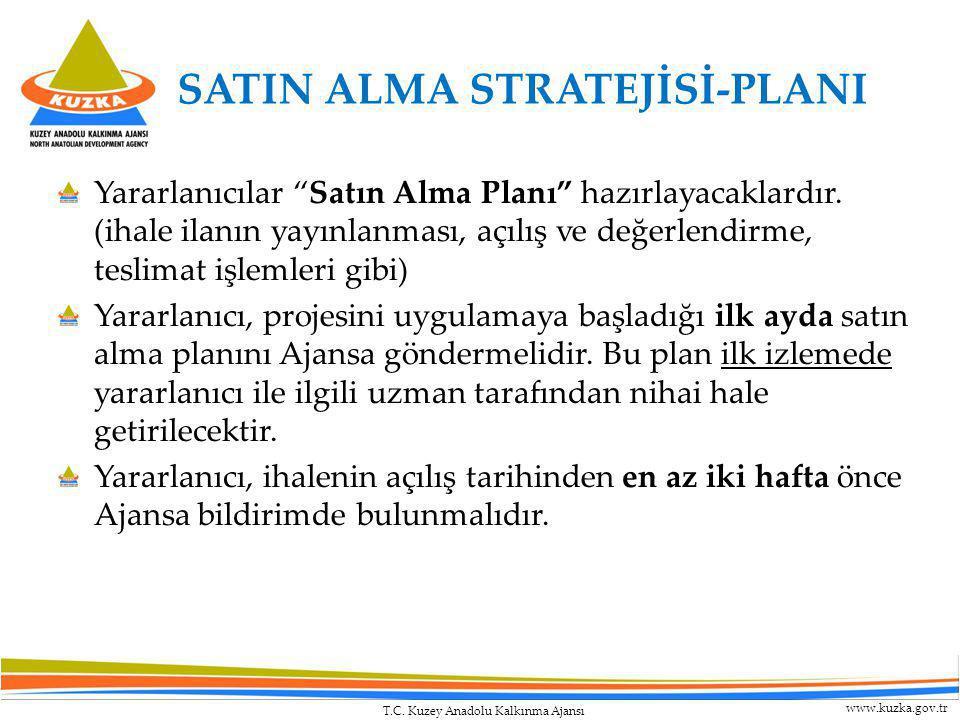 """T.C. Kuzey Anadolu Kalkınma Ajansı www.kuzka.gov.tr SATIN ALMA STRATEJİSİ-PLANI Yararlanıcılar """"Satın Alma Planı"""" hazırlayacaklardır. (ihale ilanın ya"""