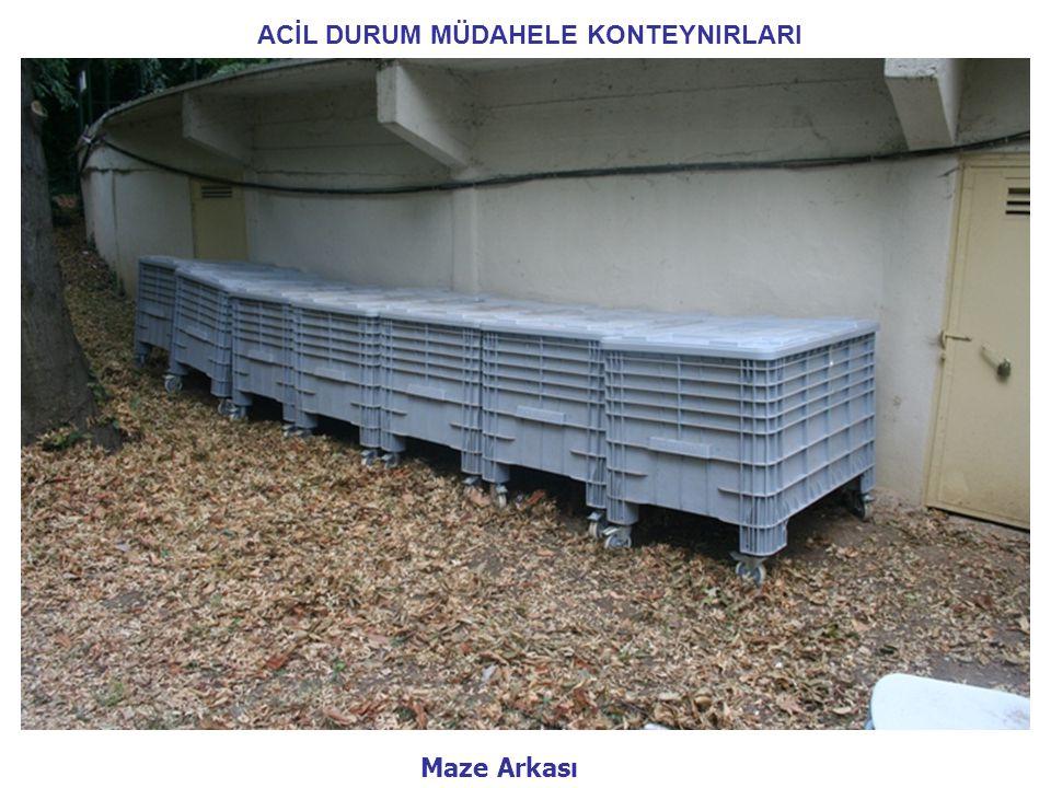 ACİL DURUM MÜDAHELE KONTEYNIRLARI Maze Arkası