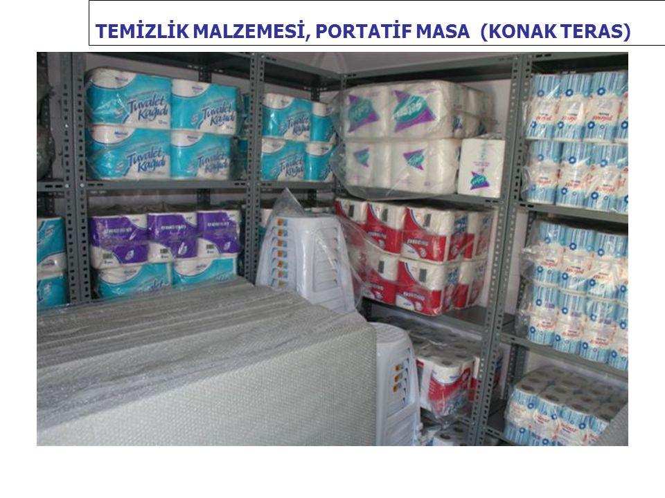 TEMİZLİK MALZEMESİ, PORTATİF MASA (KONAK TERAS)