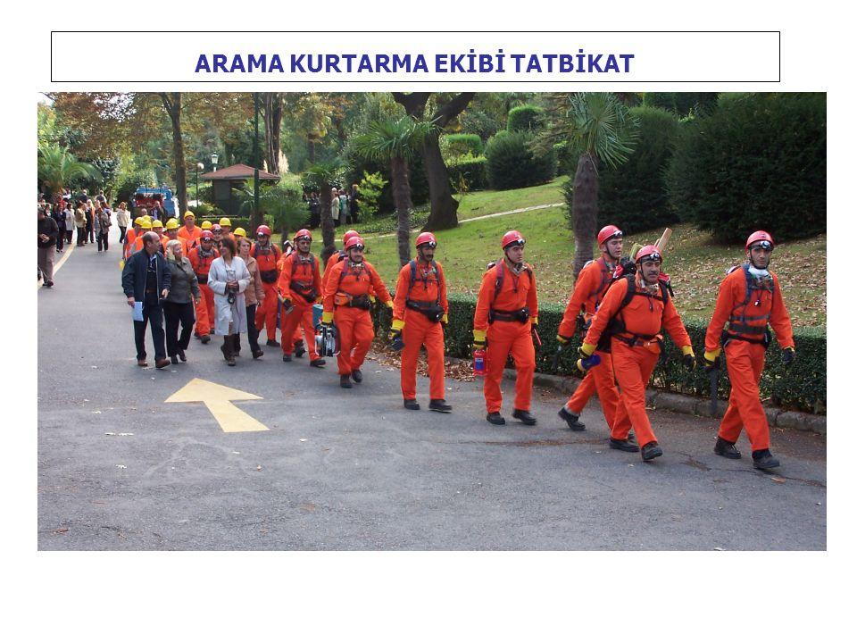 ARAMA KURTARMA EKİBİ TATBİKAT