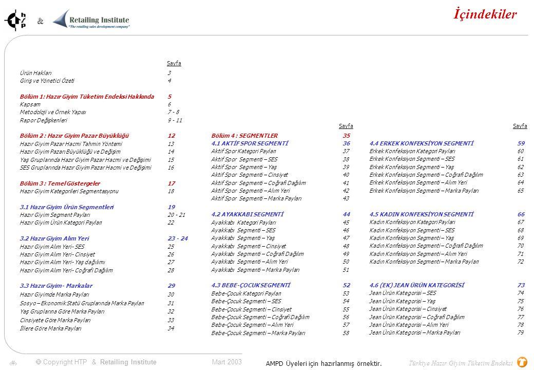  Copyright HTP & Retailing Institute 23 Bölüm 3.2.