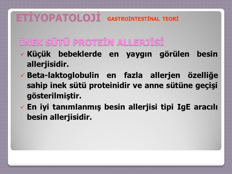 İNEK SÜTÜ PROTEİN ALLERJİSİ Küçük bebeklerde en yaygın görülen besin allerjisidir.