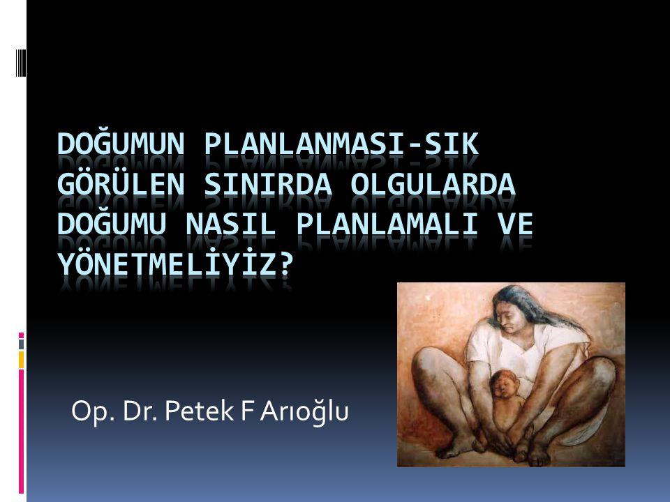 Op. Dr. Petek F Arıoğlu