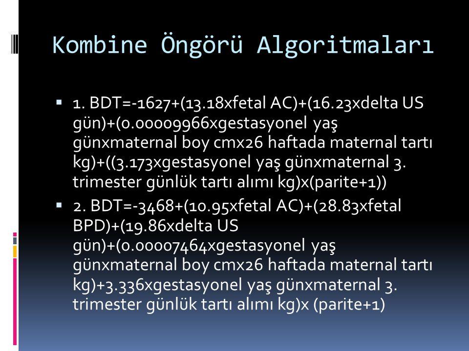 Kombine Öngörü Algoritmaları  1.