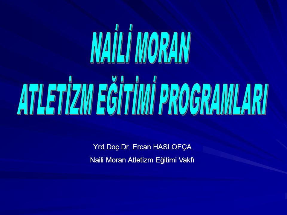 Yrd.Doç.Dr. Ercan HASLOFÇA Naili Moran Atletizm Eğitimi Vakfı