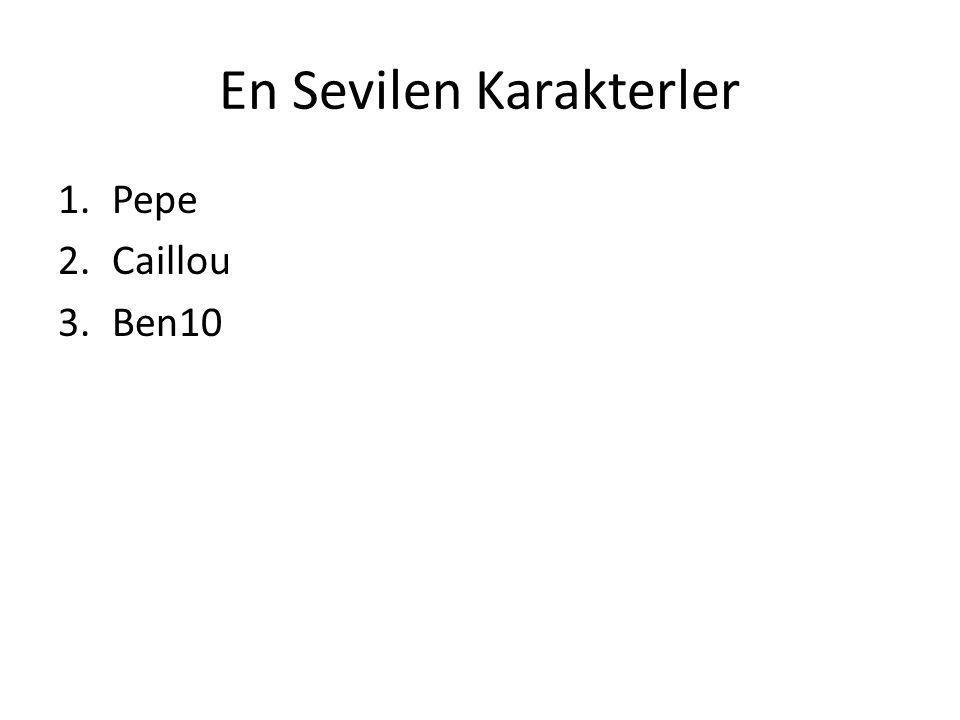 En Sevilen Karakterler 1.Pepe 2.Caillou 3.Ben10
