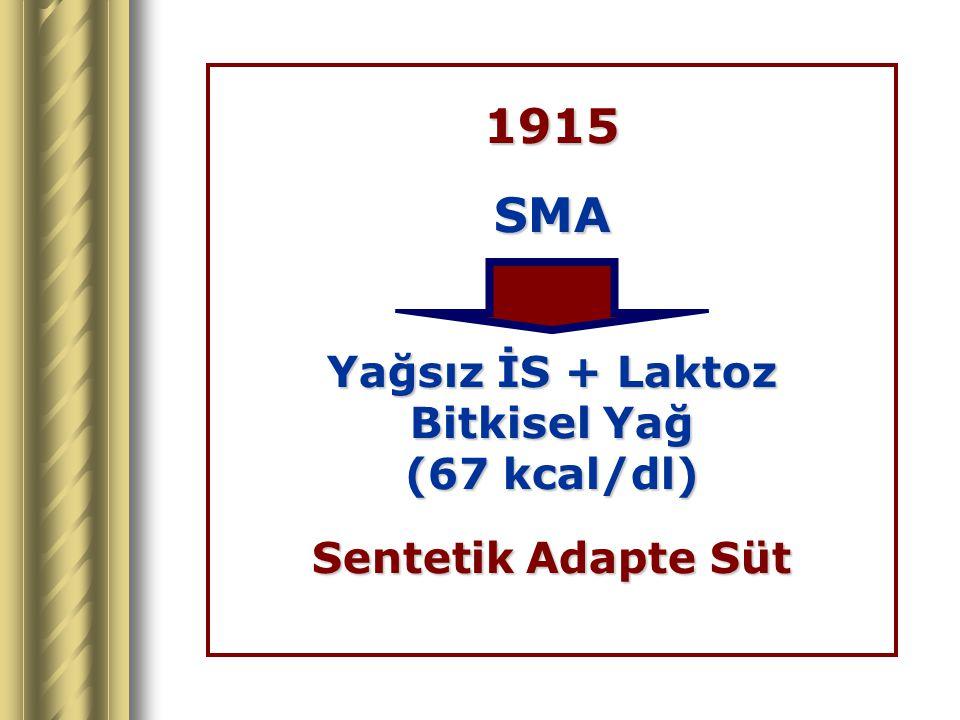 1915SMA Yağsız İS + Laktoz Bitkisel Yağ (67 kcal/dl) Sentetik Adapte Süt