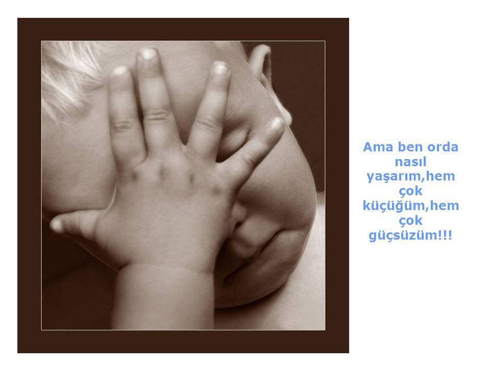 Günün birinde bebek tanrıya sordu:duydum ki sen beni yeryüzüne yollamak istiyormuşsun!