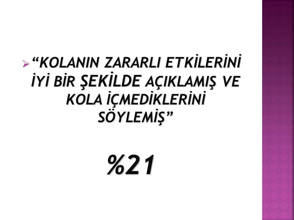 """ """"KOLANIN ZARARLI ETKİLERİNİ İYİ BİR ŞEKİLDE AÇIKLAMIŞ VE KOLA İÇMEDİKLERİNİ SÖYLEMİŞ"""" %21"""
