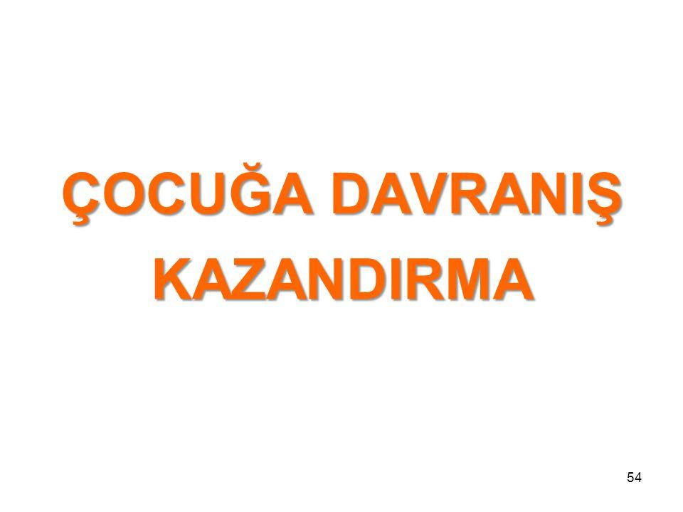 ÇOCUĞA DAVRANIŞ KAZANDIRMA 54